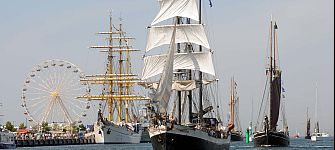 As a participant or in the crowd – Hanse Sail in Rostock leaves around a million visitors utterly captivated each year anew., © Foto: Hanse Sail Rostock