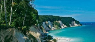 the white chalk cliffs, covered with lush, green forest - they are the island of Rügens landmark for ages, © TMV/Lück